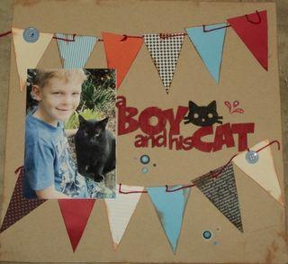 Karen Jarman Boy and his cat